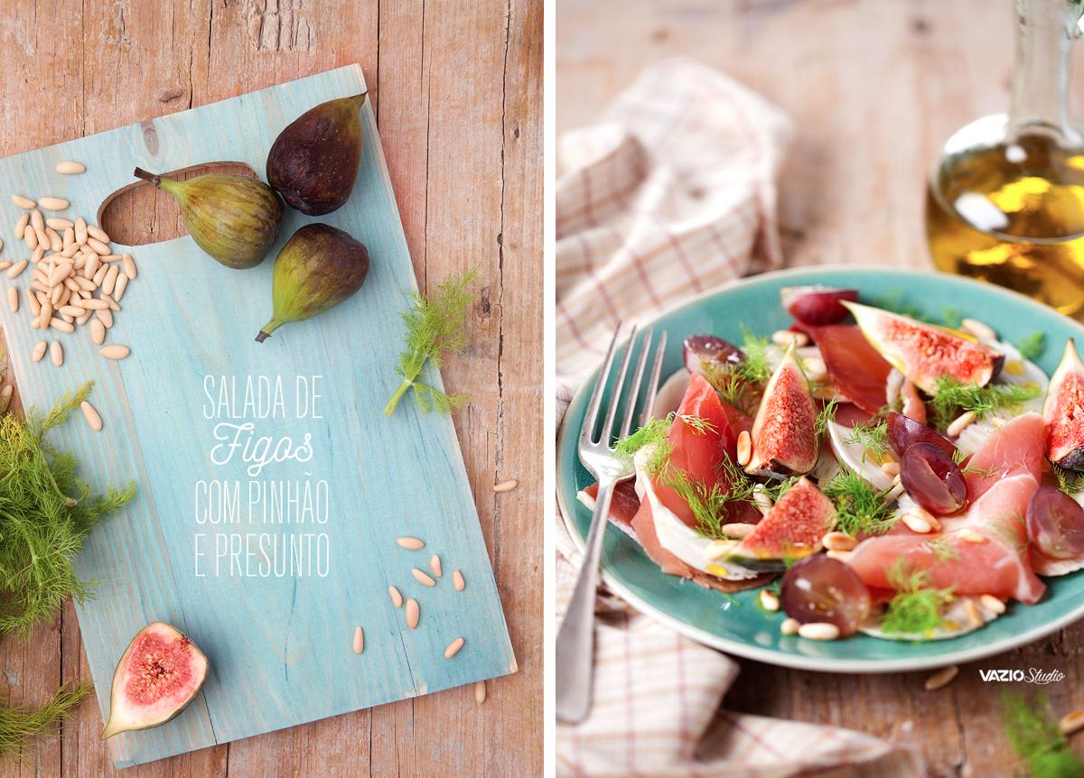 Salada de Figo com Pinhão e Presunto