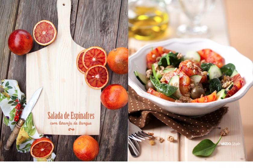 Salada Espinafres com Laranja de Sangue