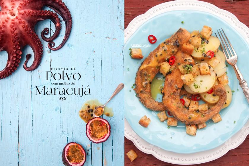 Filetes de Polvo com molho de Maracujá  Saliva.pt