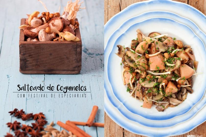 Salteado de Cogumelos com especiarias