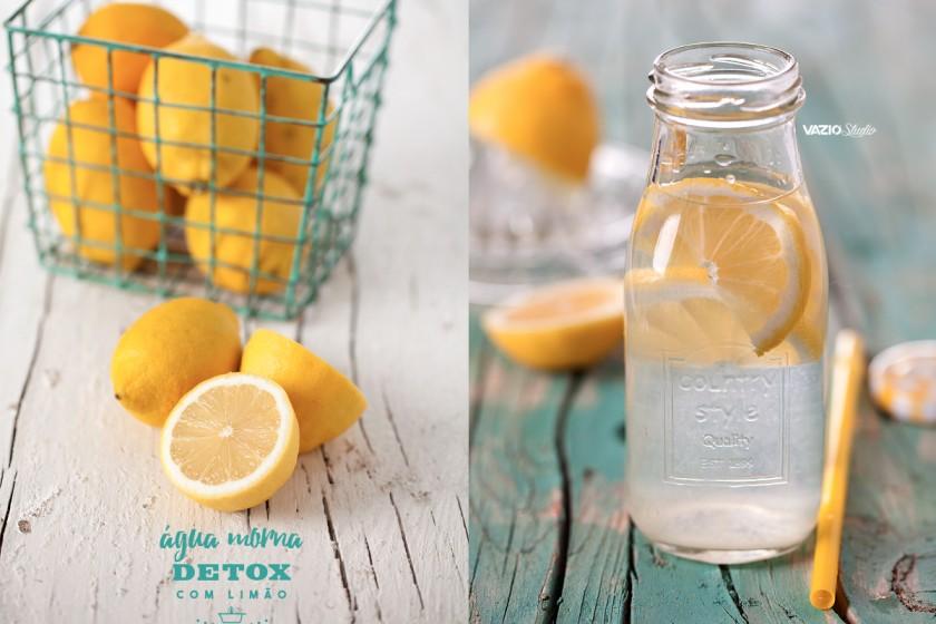 Água Morna detox com Limão Saliva.pt