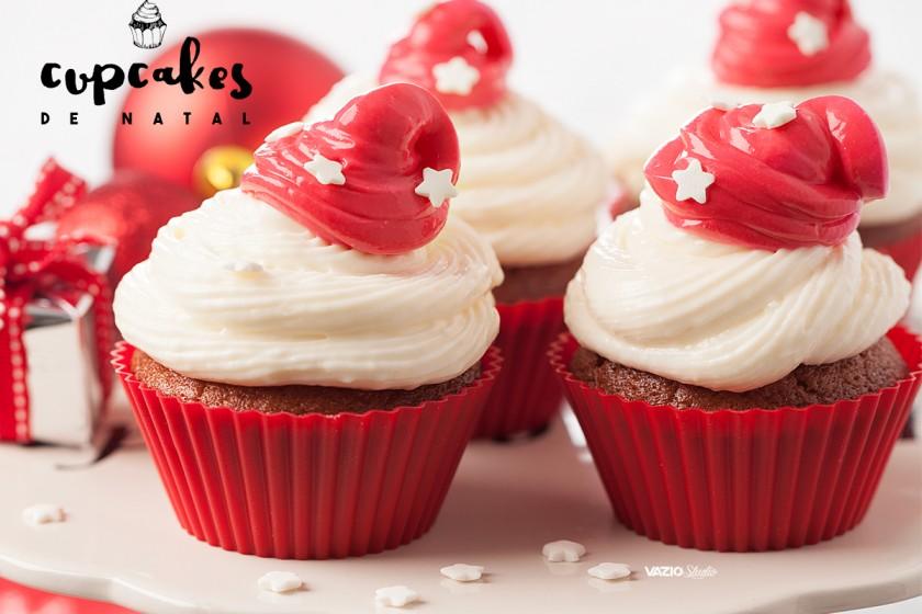 Cupcakes de Natal Saliva.pt